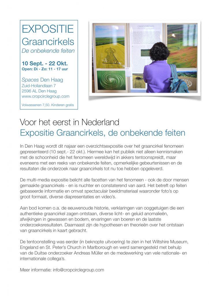 Expositie Graancirkels; De Onbekende Feiten in Nederland